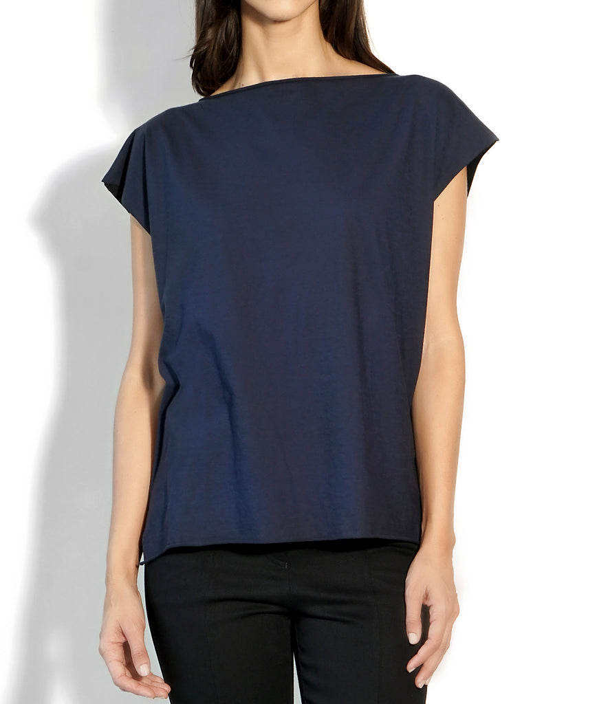 Image of Detail ROXANNE T-SHIRT BLUE/BLACK