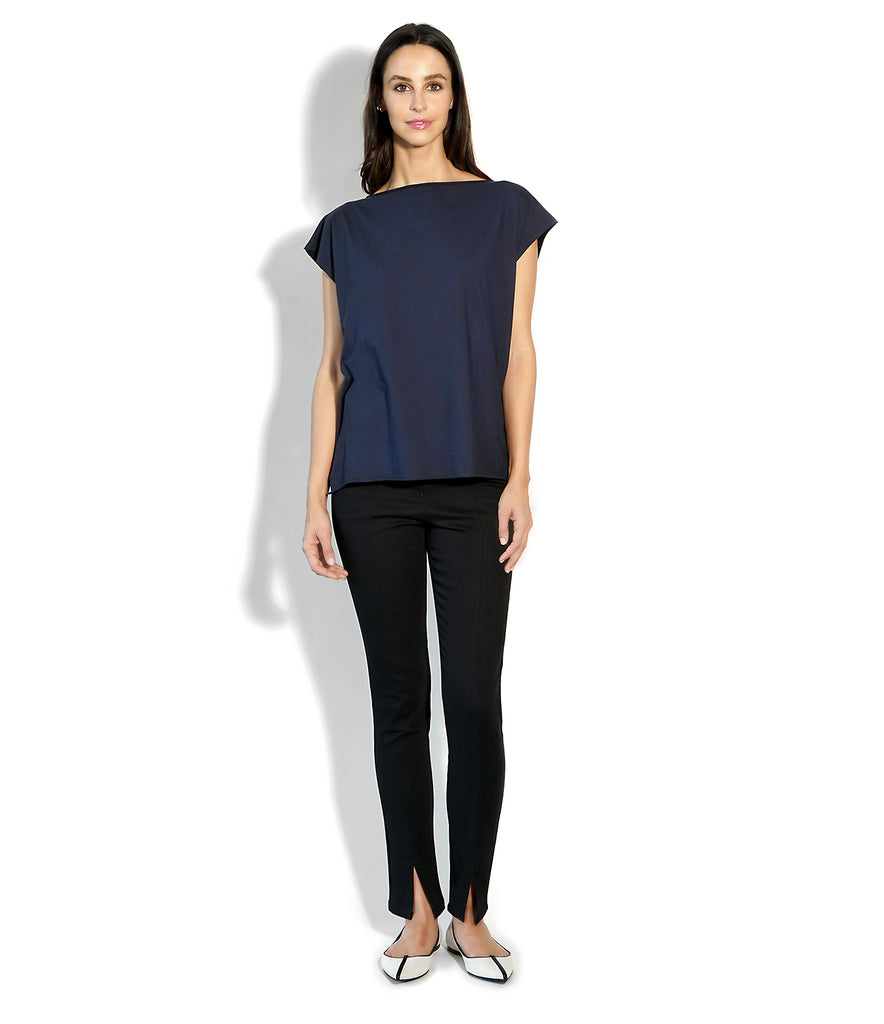 Image of ROXANNE T-SHIRT BLUE/BLACK