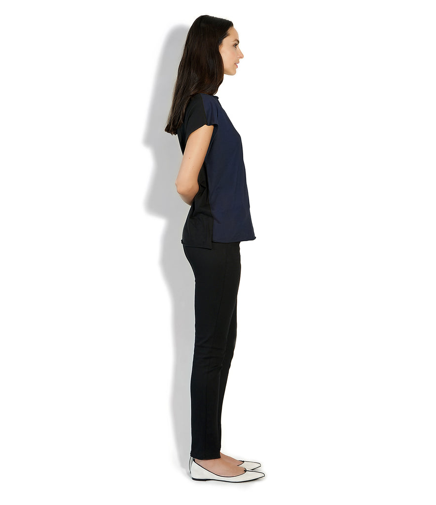 Image of Side ROXANNE T-SHIRT BLUE/BLACK