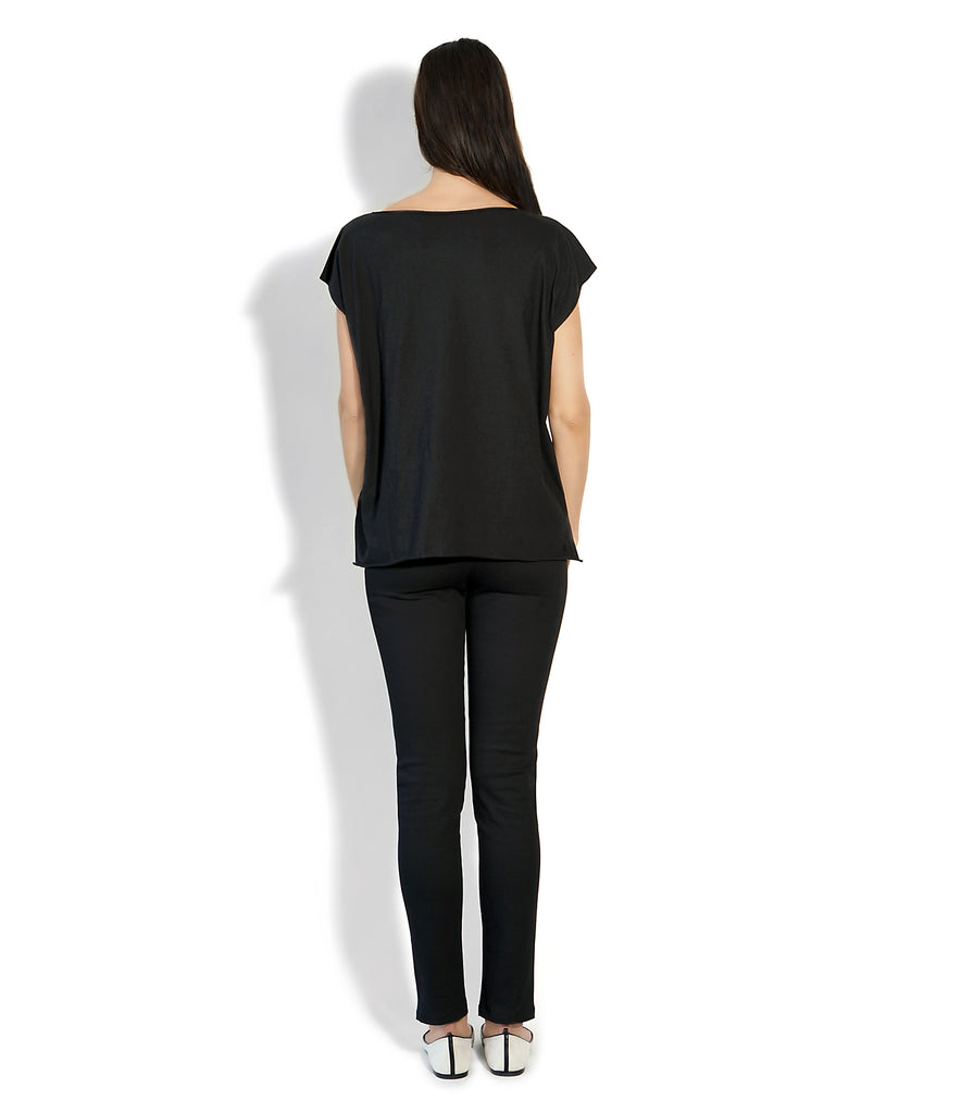 Image of Rear ROXANNE T-SHIRT MILITARY/BLACK