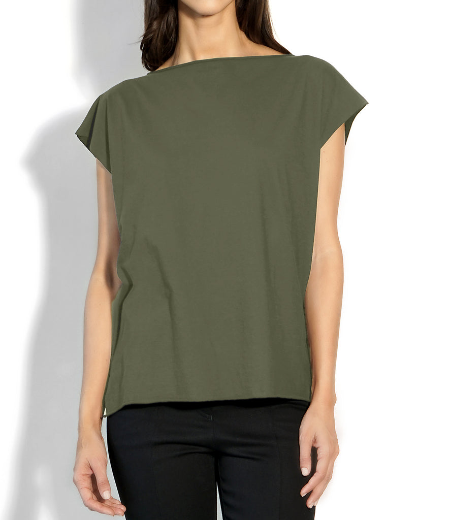 Image of Detail ROXANNE T-SHIRT MILITARY/BLACK