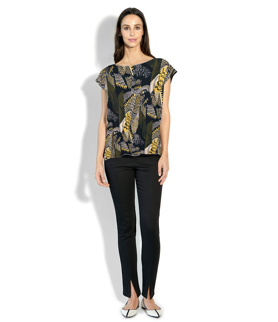 ROXANNE T-SHIRT PRINT JUNGLE/BLACK