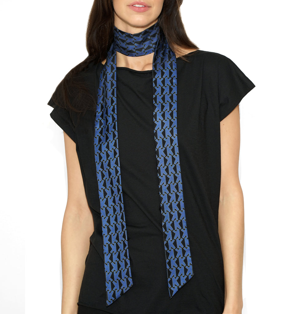 ALICE K SCARF BLUE