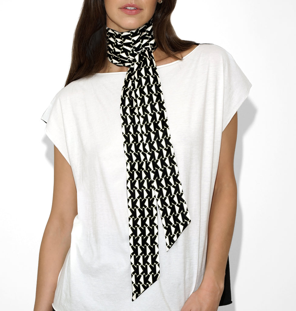 ALICE SCARF K BLACK & WHITE