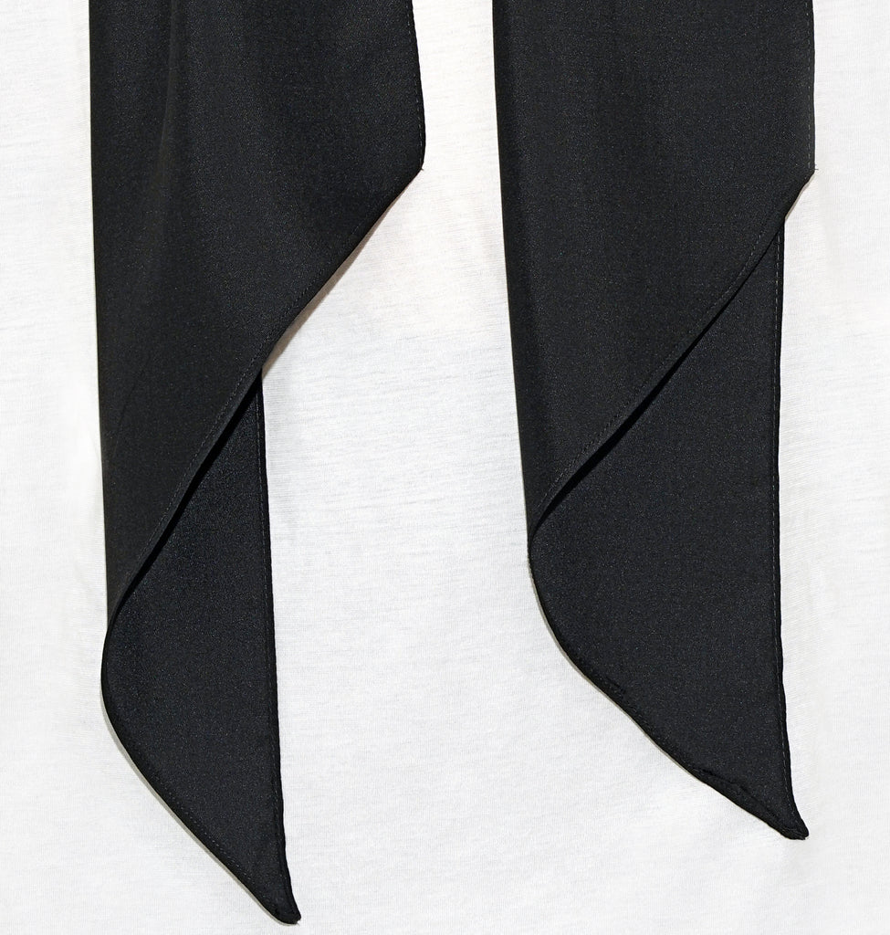 Image of Detail TYLER SILK SCARF BLACK