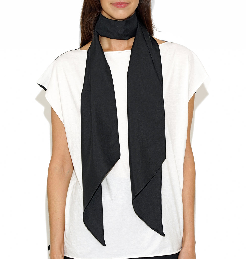Image of TYLER SILK SCARF BLACK