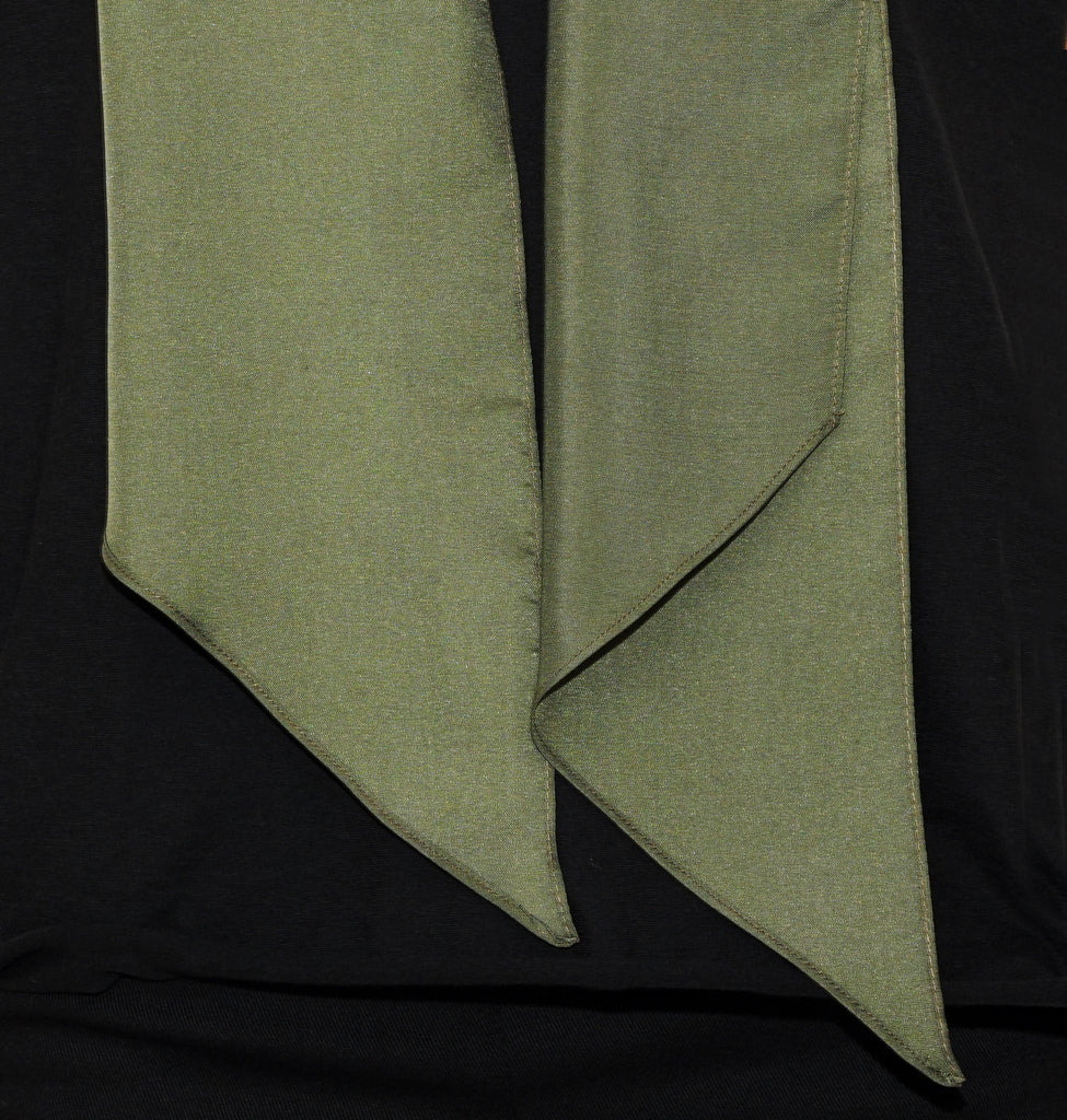 Image of Detail TYLER SILK SCARF Military