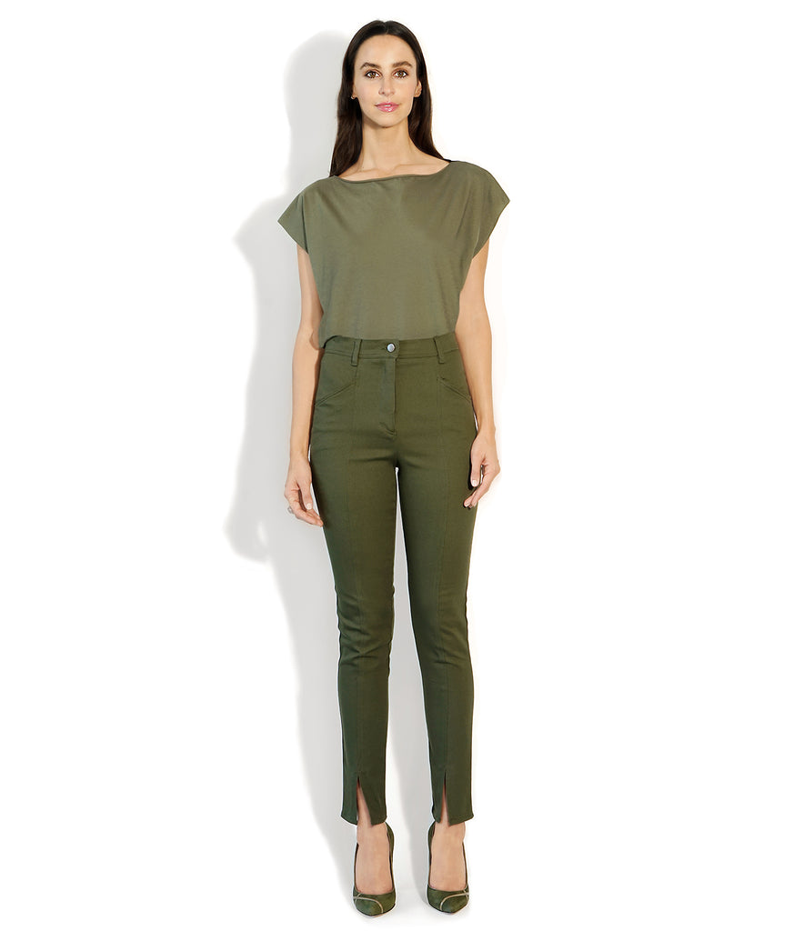 Image of VALENTINA PANT MILITARY