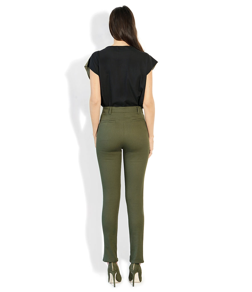 Image of Rear VALENTINA PANT MILITARY