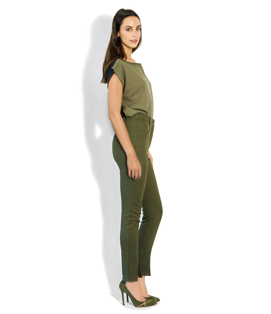 Image of Side VALENTINA PANT MILITARY