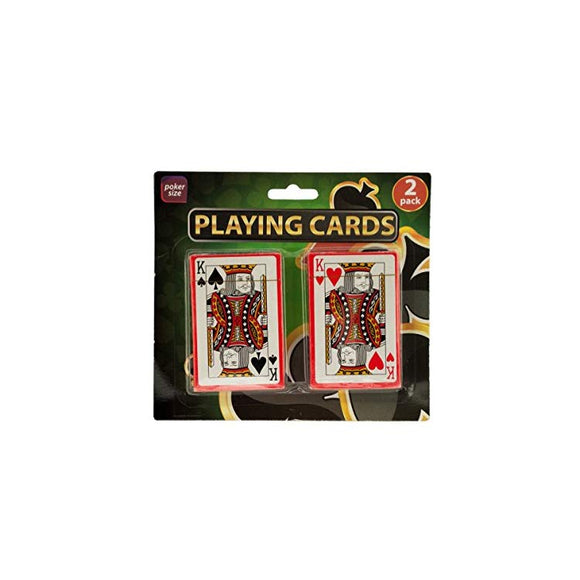 bulk buys Plastic Coated Poker Size Playing Cards Set Game