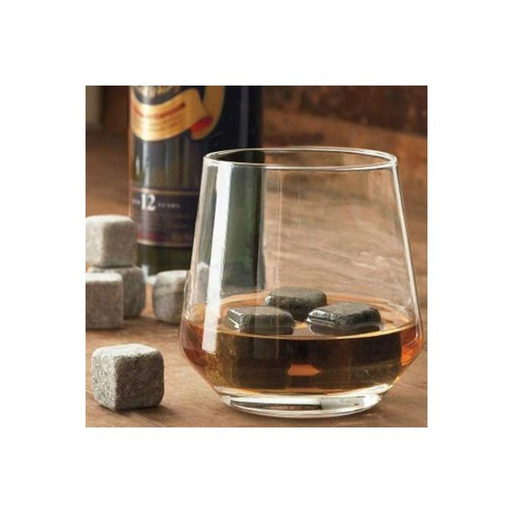 9PCS Soapstone Ice Rocks Cubes Wine Whiskey Coffee Stones Chillers W/ Bag