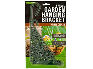 bulk buys OL412 Swivel Garden Hanging Bracket with Chain, Black, Green