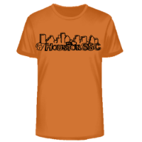 HoustonSSC Texas Orange Ring Spun Cotton TShirt