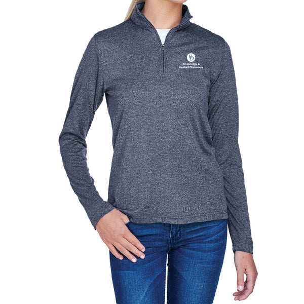 UD KAAP UltraClub Ladies' Cool & Dry Heathered Performance Quarter-Zip