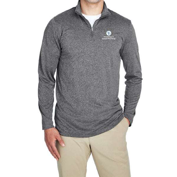UD KAAP UltraClub Men's Cool & Dry Heathered Performance Quarter-Zip