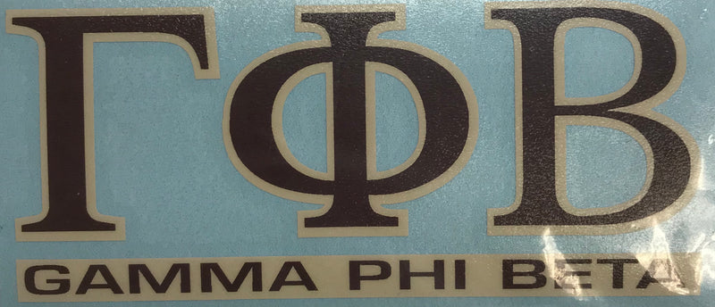 Sorority Color Shock Decal