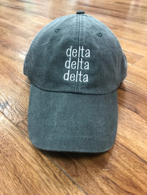 Sorority Vintage Cap Triple Line Design