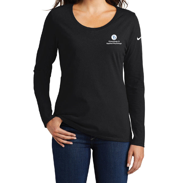 UD KAAP Nike Ladies Core Cotton Long Sleeve Scoop Neck Tee