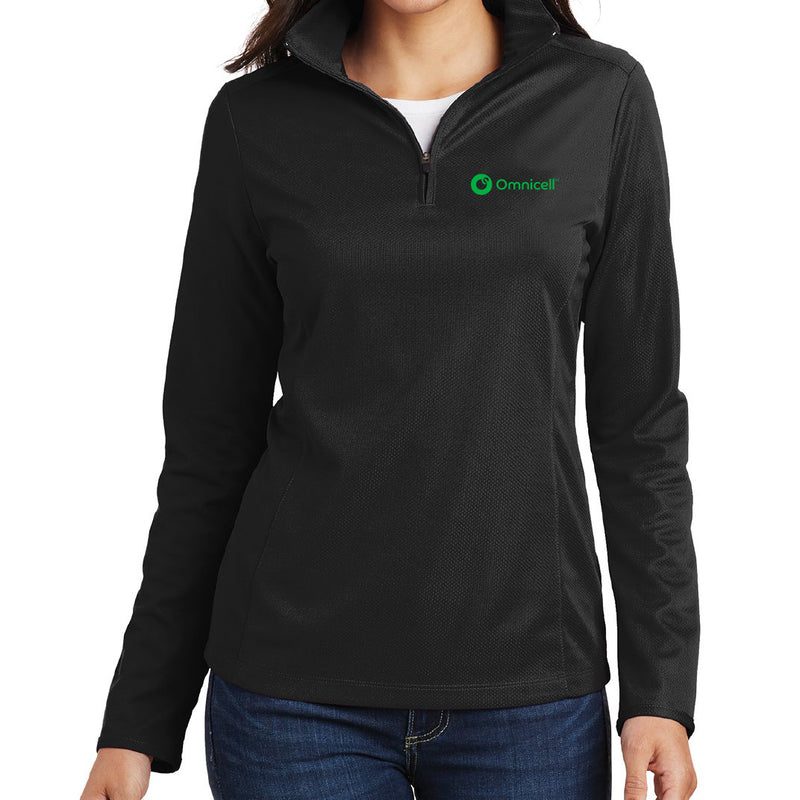 Omnicell Ladies Pinpoint Mesh 1/4-Zip