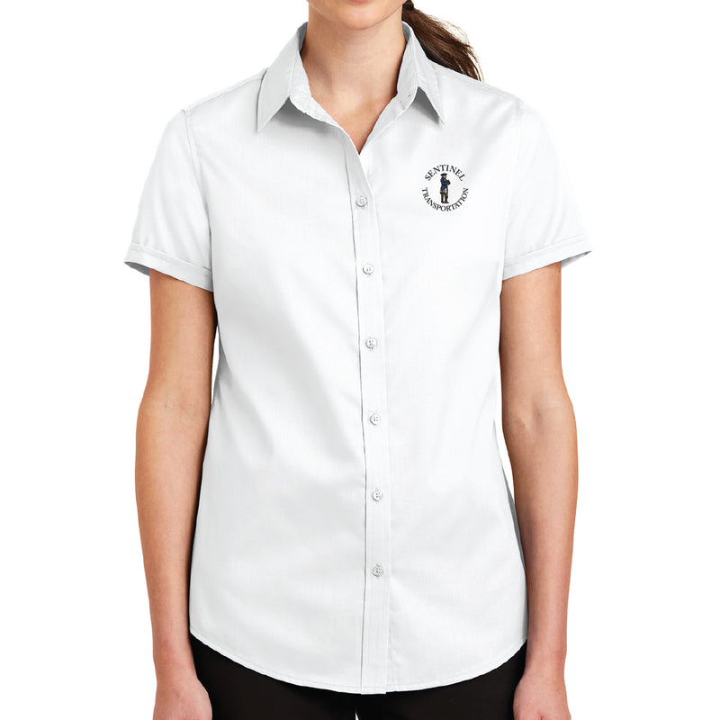 Sentinel Port Authority Ladies Short Sleeve SuperPro Twill Shirt
