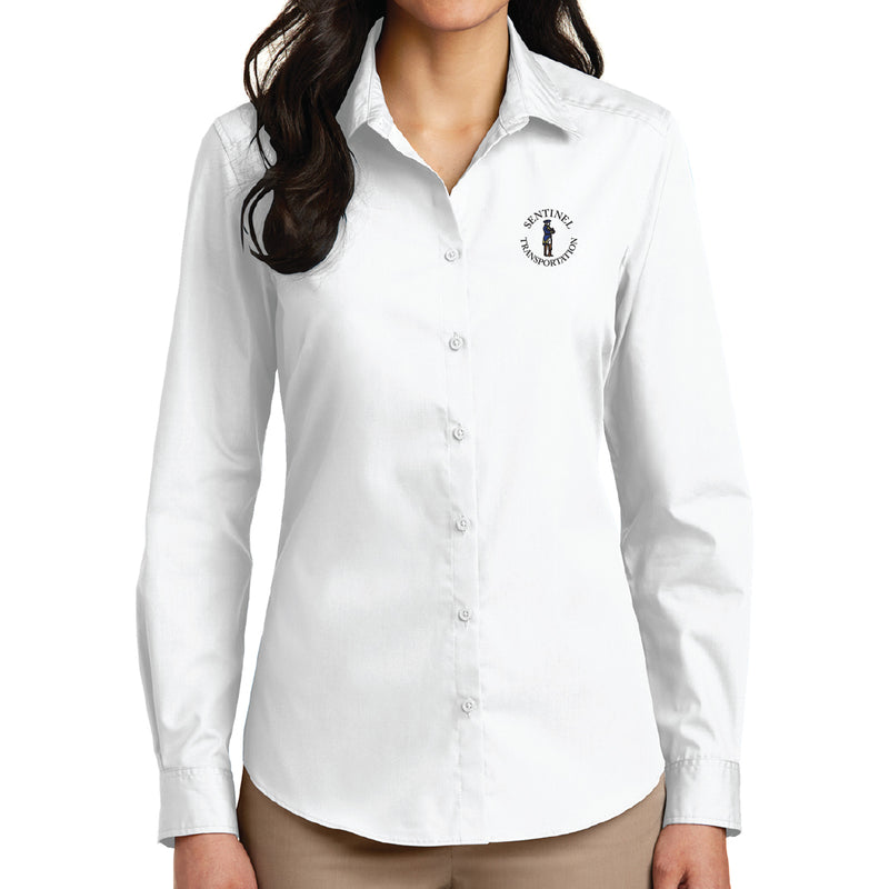 Sentinel Port Authority Ladies Long Sleeve Carefree Poplin Shirt
