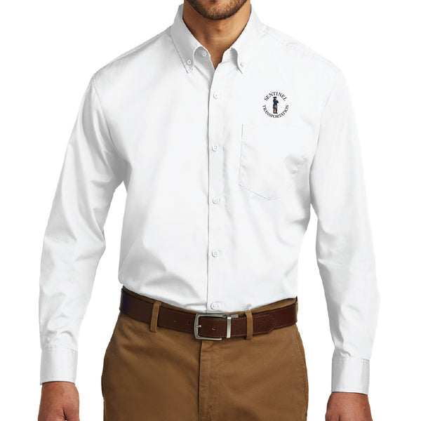 Sentinel Port Authority Long Sleeve Carefree Poplin Shirt