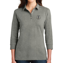 Sentinel Port Authority Ladies 3/4-Sleeve Meridian Cotton Blend Polo