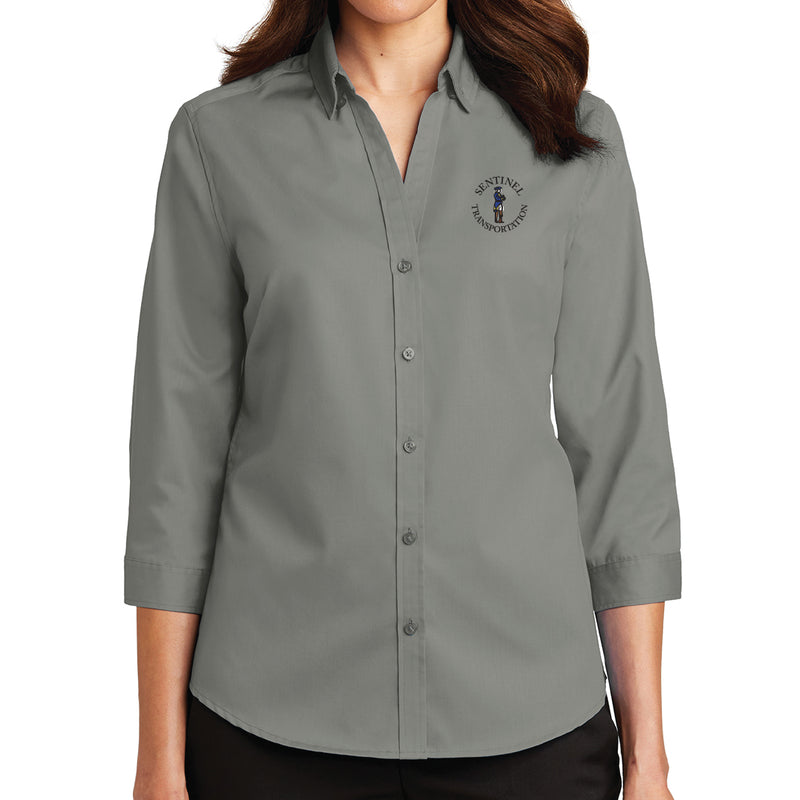 Sentinel Port Authority Ladies 3/4-Sleeve SuperPro Twill Shirt