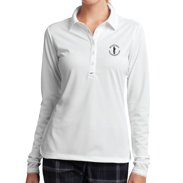 Sentinel Nike Ladies Long Sleeve Dry-Fit Stretch Tech Polo