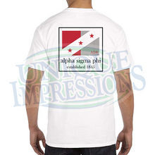 Flag Pocket Tee, Alpha Sigma Phi