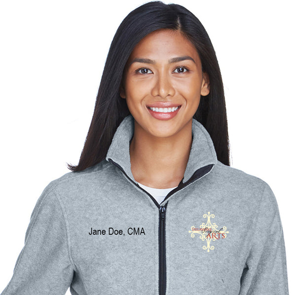 Delaware Surgical Arts UltraClub Ladies' Iceberg Fleece Full-Zip with Custom Name & Title