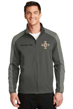 Delaware Surgical Arts Port Authority Active Colorblock Soft Shell Jacket with Custom Name & Title