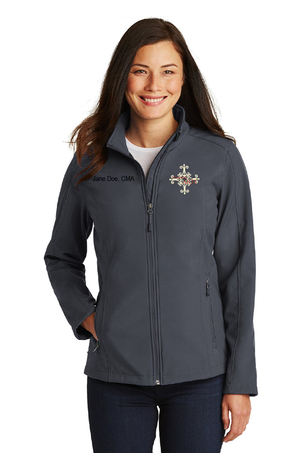 Delaware Surgical Arts Port Authority Ladies Core Soft Shell Jacket with Custom Name & Title