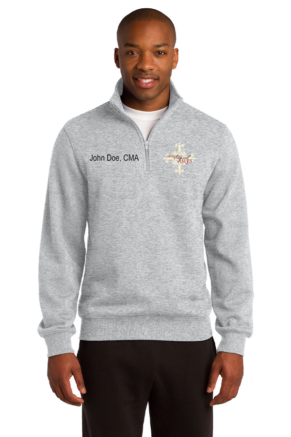 Delaware Surgical Arts Sport-Tek 1/4-Zip Sweatshirt with Custom Name & Title