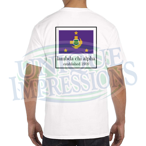 Flag Pocket Tee, Lambda Chi Alpha