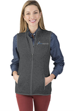 Premier Dermatology Women's Pacific Heathered Fleece Vest with Premier Logo Only