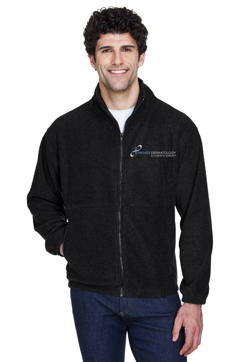 Premier Dermatology UltraClub Men's Iceberg Fleece Full-Zip Jacket with Custom Name & Title