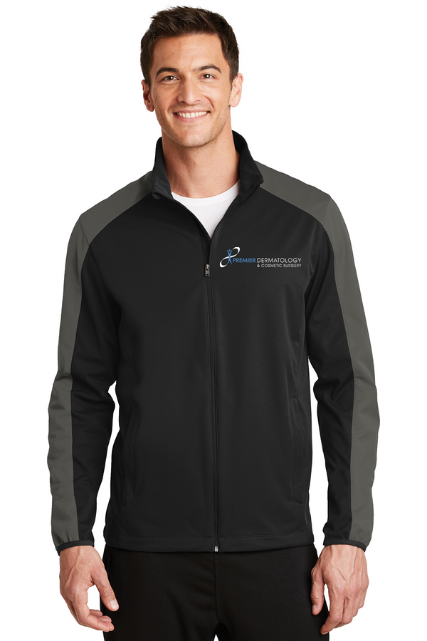 Premier Dermatology Port Authority Active Colorblock Soft Shell Jacket with Premier Logo Only