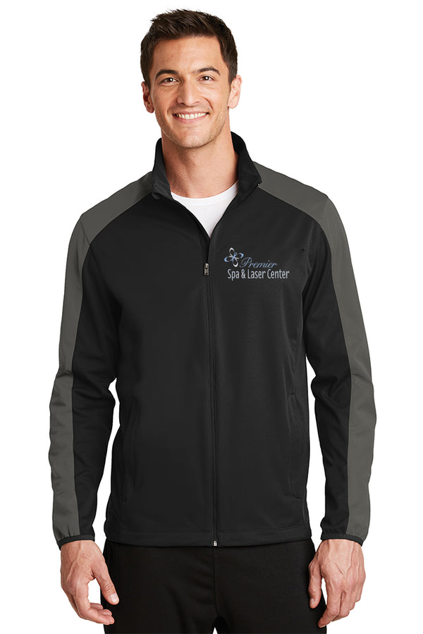 Premier Spa & Laser Center Port Authority Active Colorblock Soft Shell Jacket with Premier Logo Only