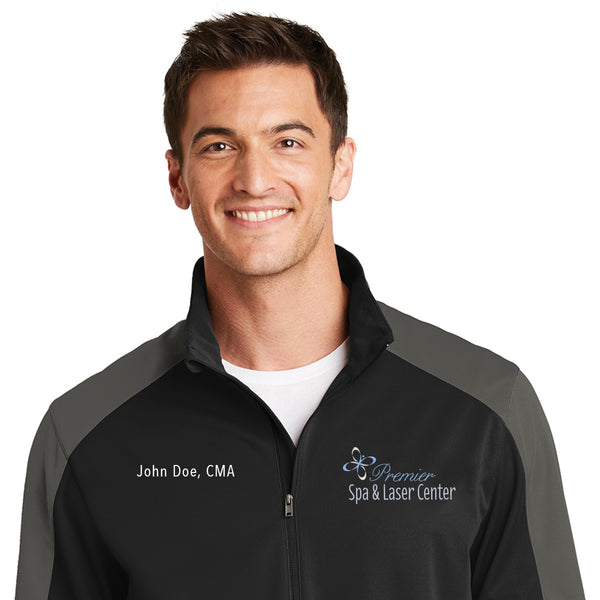Premier Spa & Laser Center Port Authority Active Colorblock Soft Shell Jacket with Custom Name & Title