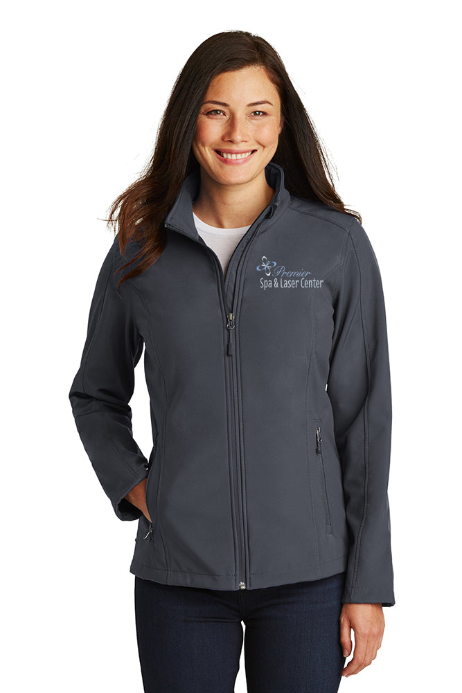 Premier Spa & Laser Center Port Authority Ladies Core Soft Shell Jacket with Premier Logo Only