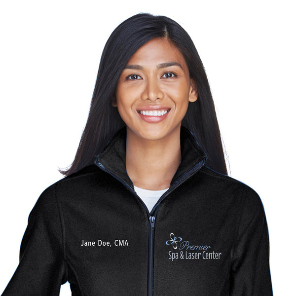 Premier Spa & Laser Center UltraClub Ladies' Iceberg Fleece Full-Zip with Custom Name & Title