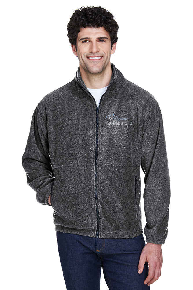Premier Spa & Laser Center UltraClub Men's Iceberg Fleece Full-Zip Jacket with Custom Name & Title