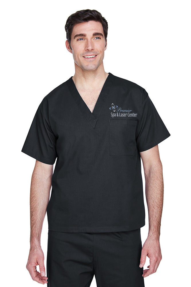 Premier Spa & Laser Center Harriton Adult 4.9 oz. Scrub Top with Premier Logo Only