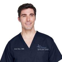 Premier Spa & Laser Center Harriton Adult 4.9 oz. Scrub Top with Custom Name & Title