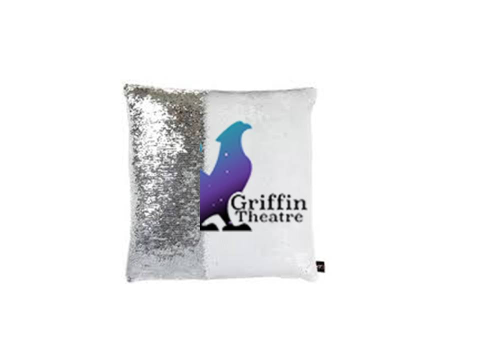 Griffin Theatre Mermaid Sequin Pillow
