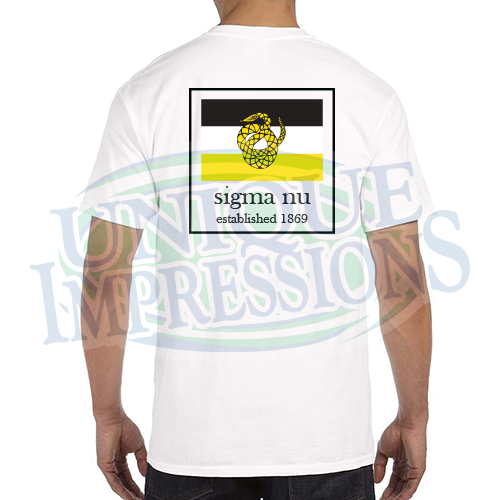 Flag Pocket Tee, Sigma Nu