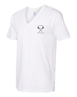 St. Georges Girls' Lacrosse Unisex Short Sleeve V-Neck Tee 2456W