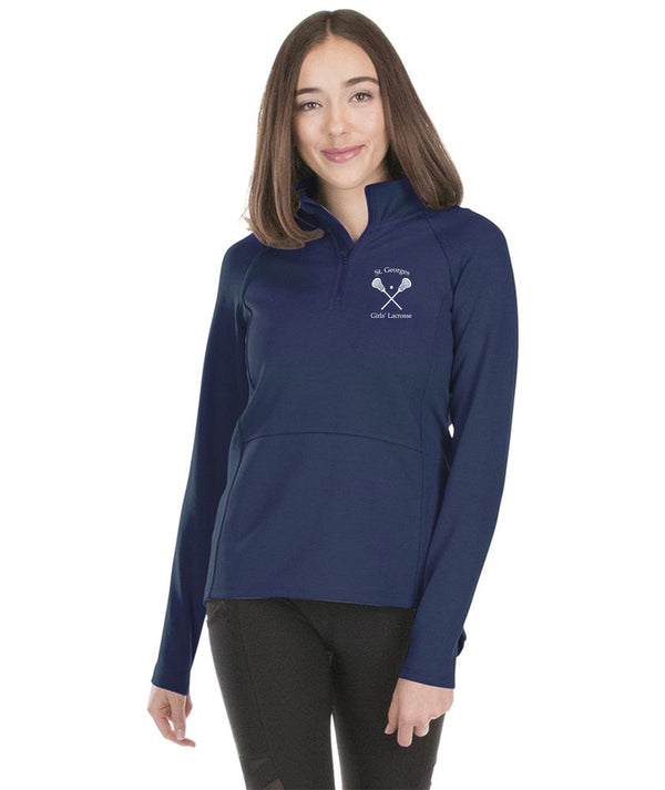St. Georges Girls' Lacrosse Women's Seaport 1/4 Zip 5057